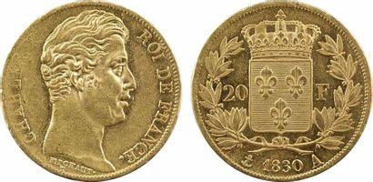 Charles X, 20 francs, 5 feuilles, 1830 Paris