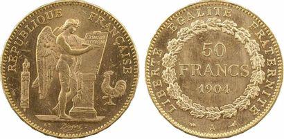 IIIe République, 50 francs Génie, 1904 Paris IIIe République, 50 francs Génie, 1904...