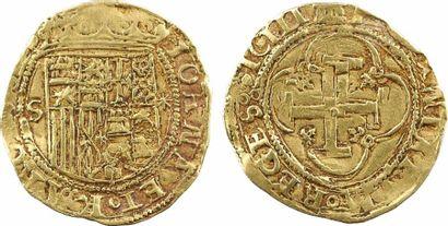 Espagne, Jeanne et Charles, escudo, s.d. (apr.1535) Séville