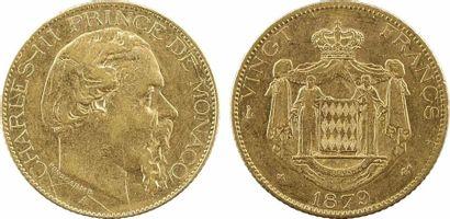 Monaco, Charles III, vingt francs, 1879 Paris