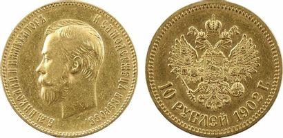 Russie, Nicolas II, 10 roubles, 1902 Saint-Pétersbourg