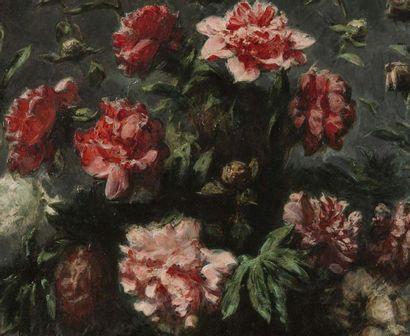 Eugène DELACROIX (Charenton Saint Maurice 1798 - Paris 1863) Bouquet de pivoines...