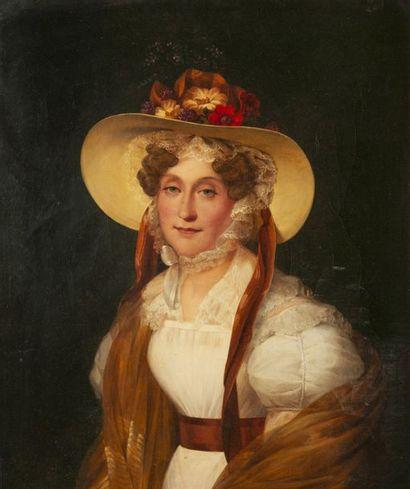 MARIE-AMÉLIE COGNIET (1798-1869) Portrait de Madame Adélaïde, soeur du roi Louis-Philippe....