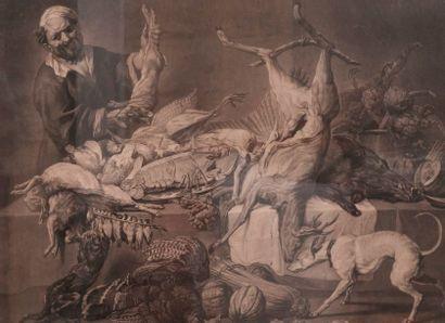 D'après Martin de Vos, The Larder gravure...