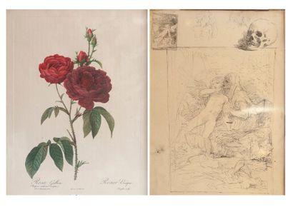 Lithographie et une reproduction XIXe si...