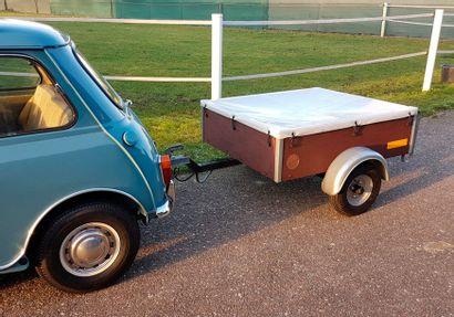Austin Morris Austin Morris  mini 850  et sa remorque porte bagage  1960  Titre de...