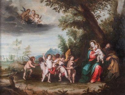 Ecole FLAMANDE du XVIIème siècle, suiveur...