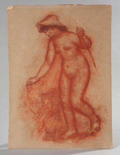 D'après Renoir, lithographie façon Sanguine...