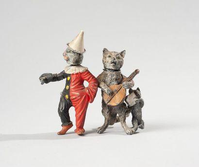 Bronze de Vienne. Deux sujets animaliers,...
