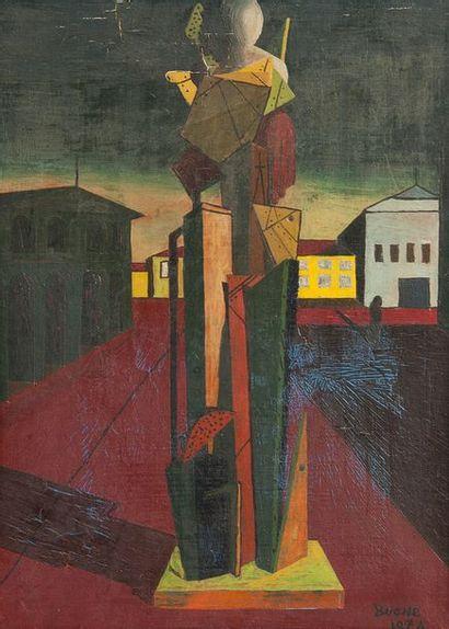 BOONE  Composition surréaliste, 1974  Huile...