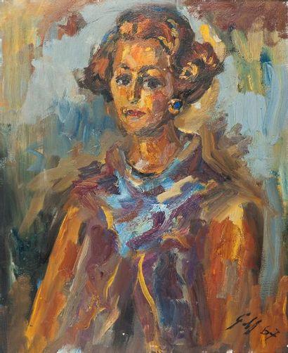 Ex 5114-28 Georges MORVAN (1885-1968) Portrait...