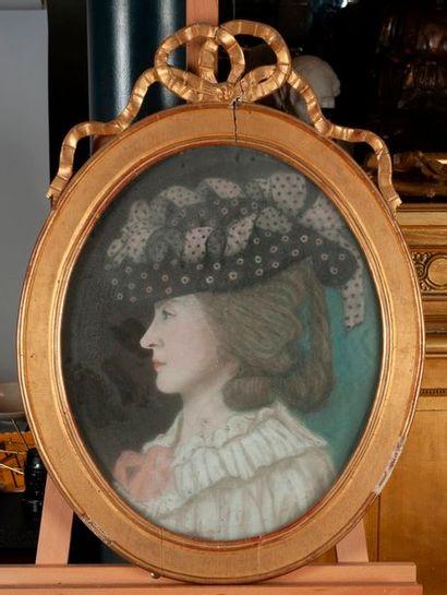 Ecole Française XIXeme portrait de femme...