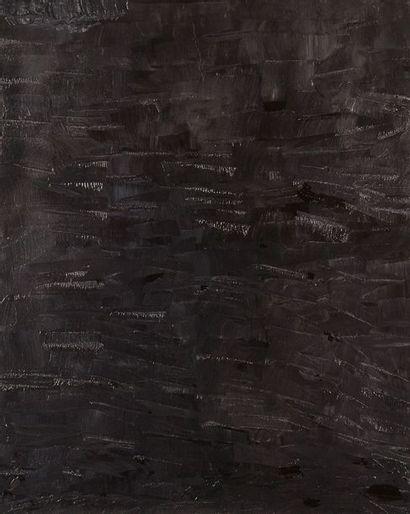 CALDWELL  Abstraction noir  Toile signée...