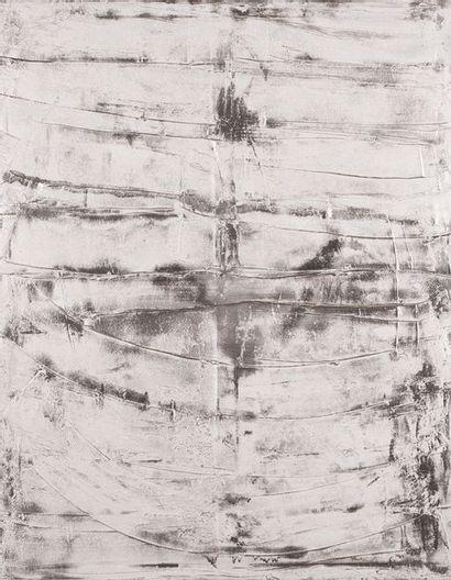 CALDWELL, Abstraction argenté, Peinture...
