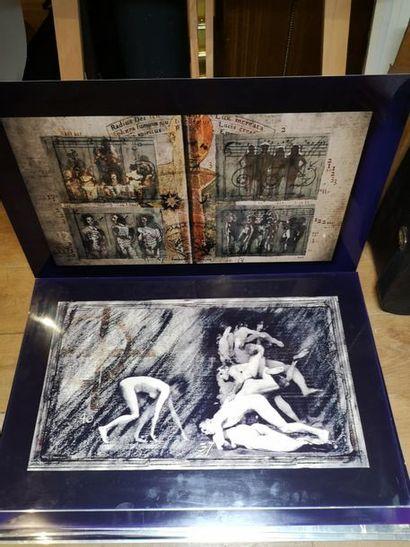 ensemble de photos sur métal du film Prospero's...