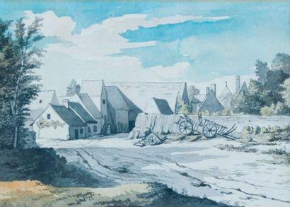 Ecole FRANCAISE du XVIIIème siècle  Vue du...