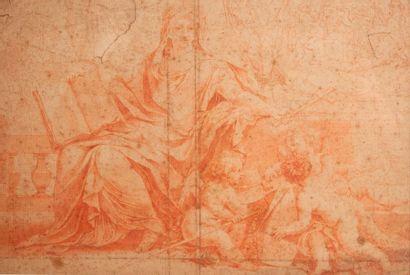Ecole FRANCAISE du XVIIe siècle  Allégorie...