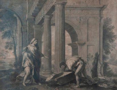 Ecole FRANCAISE néoclassique d'après POUSSIN...