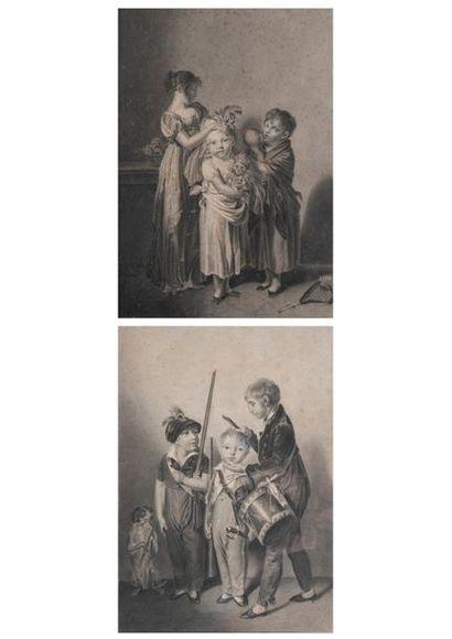 Ecole de Louis-Léopold BOILLY  Les petites...