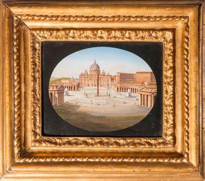 Saint Pierre, La cour d'Honneur du Vatican...