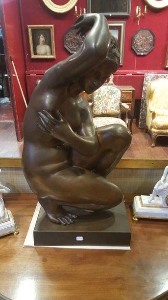 D'après BOSIO  Vénus au bain  Bronze.  Haut....