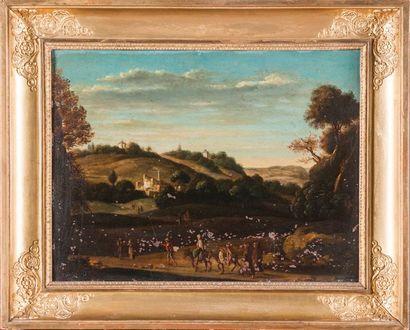 Ecole ITALIENNE de la fin du XVIIème siècle...