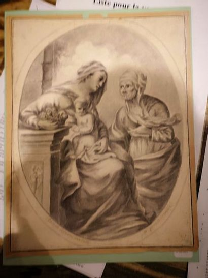 Ecole ITALIENNE du XVIIIe siècle.  Vierge...