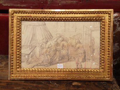 Ecole FLAMANDE du XVIIe siècle  Samson et...