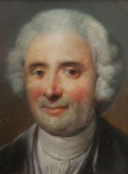 Ecole du XVIIIème, Portrait d'homme,Pastel...