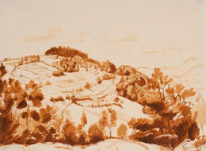 Henri VERGE-SARRAT (1880-1966) Paysage de...