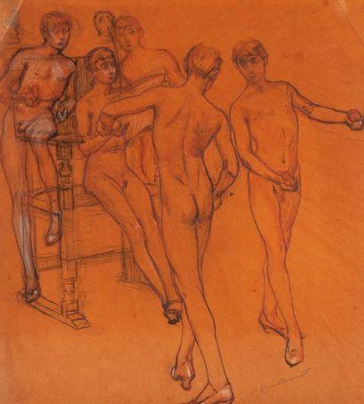 Octave GUILLONNET (1872-1967) Jeunes danseurs....