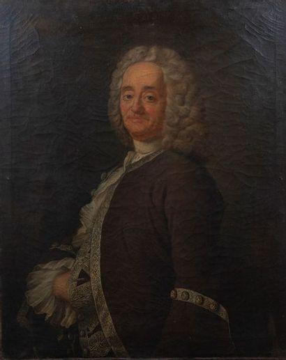 école du XVIIIème siècle, Portrait d'homme,toile....