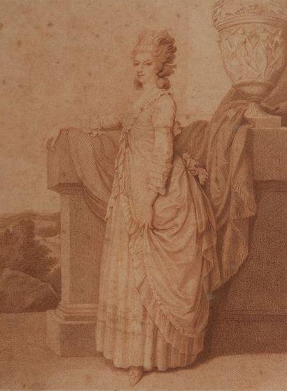 Ecole anglaise XIX, lady session ,gravé par Dickinson. Epreuve avant la lettre 30...