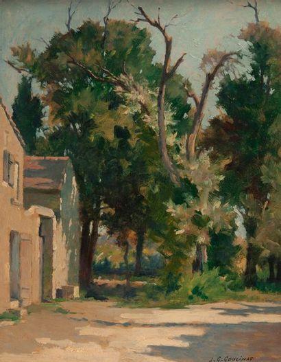 jean Gabriel Goulinat (1883-1972), maison de Provence,Carton signé en bas à droite....
