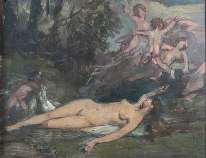 Gustave DORE (1832-1883), Venus et amours,toile...