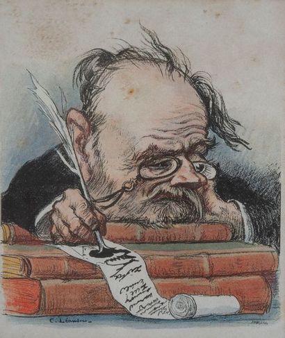 Charles LEANDRE (1862-1934), ZOLA,tirage....