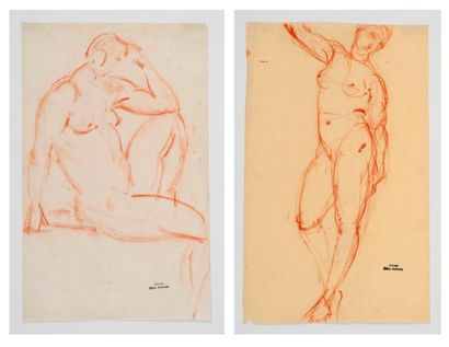 Emile BERNARD (1868-1941) Nus féminins. 2...