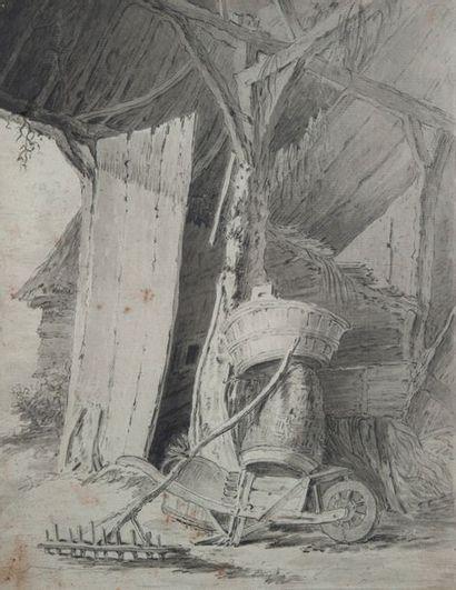 école moderne, la ferme,crayon32 x 25 cm