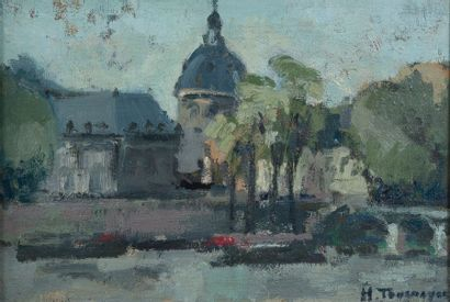H.TOURNAYRE, L'Institut,toile 24 x 36 cm