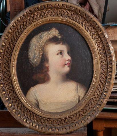 école anglaise vers 1800, jeune fille au...