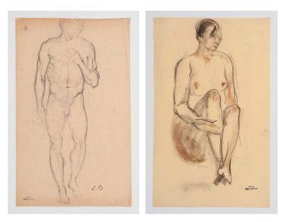 Emile BERNARD (1868-1941) Etudes de nus....