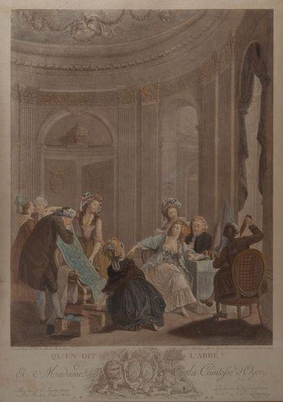 DE LAUNAY, qu'en dit l abbé,estampe. 54 x...