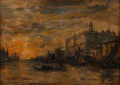Edouard DUFEU ( Marseille 1836 -1900), Venise,toile...