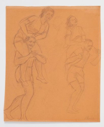 Odilon ROCHE (1868-1947) Crayon sur papier...