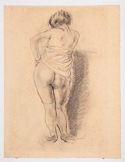 André DIGNIMONT (1891-1965) Femme au bas....