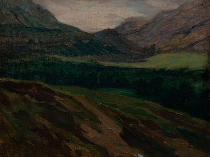 jean Gabriel Goulinat (1883-1972), montagne,panneau....