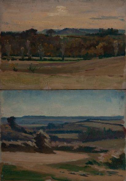 jean Gabriel Goulinat (1883-1972), paysage,deux...