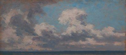 jean Gabriel Goulinat (1883-1972), nuages,panneau.20...