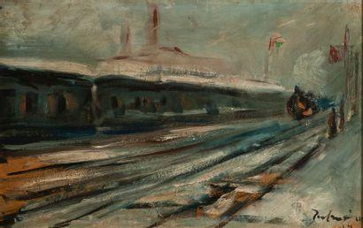 Jose PALMEIRO (1901-1984), le train d'Argenteuil,papier...