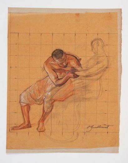 Octave GUILLONNET (1872-1967) Etude d'orientaux....